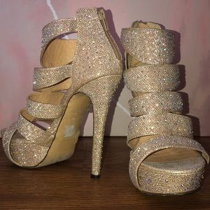 Dress Wedding Shoes Rhinestone Rivet High Heels